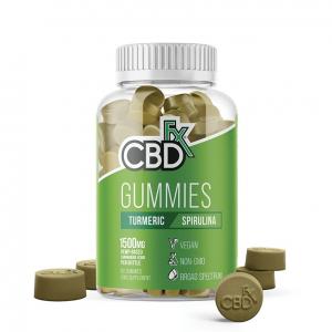 CBDFX Gummies Turmeric and Spirulina Jar of 60