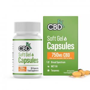 cbdfx soft gel CBD capsules 750mg